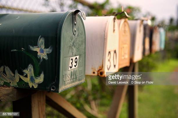 hawaiian mail - domestic mailbox stock pictures, royalty-free photos & images