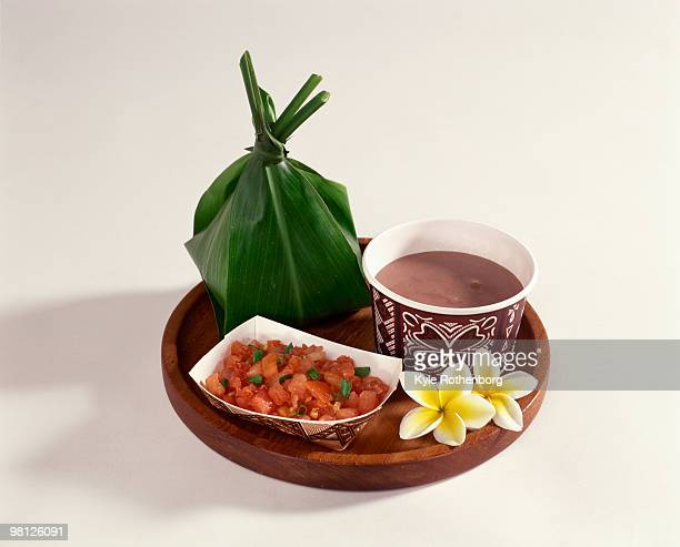 hawaiian poi platter - poi_(food) stock pictures, royalty-free photos & images