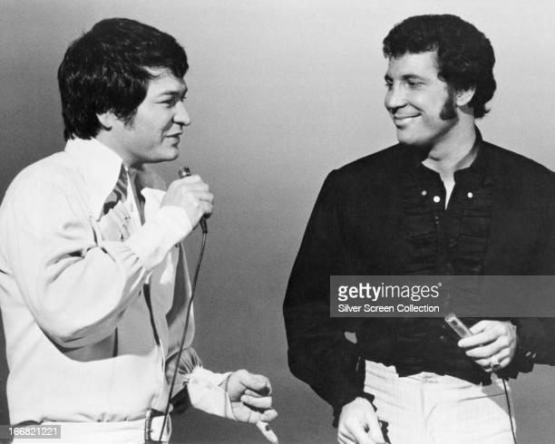 Hawaiian singer Don Ho and Welsh singer Tom Jones performing circa 1970