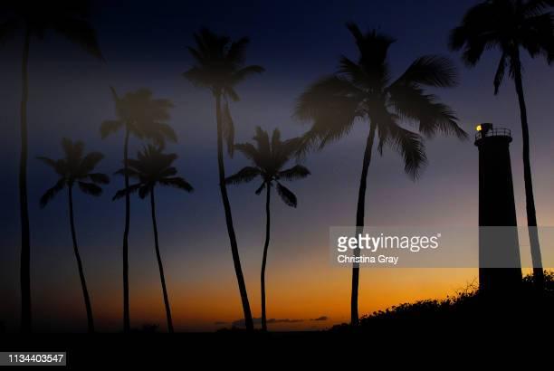 Hawaiian Sunset with Lighthouse