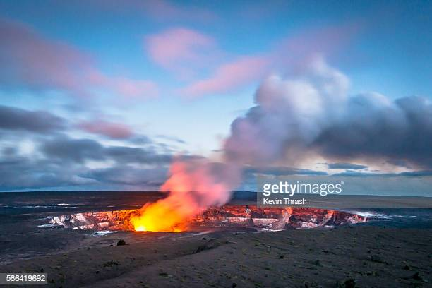 Hawaii's Kilauea Caldera at Twilight