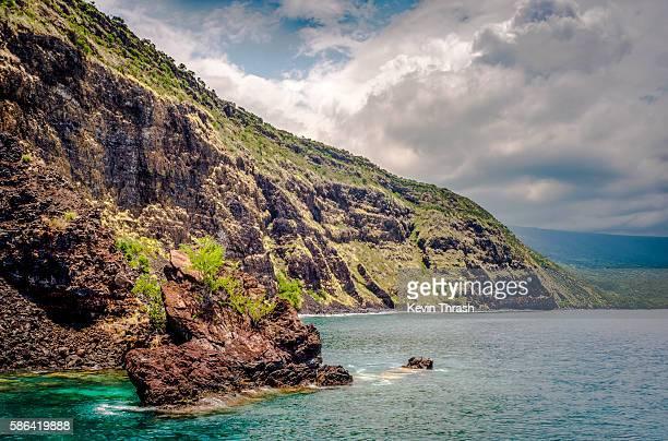 hawaii's kona coast - kona coast stock photos and pictures