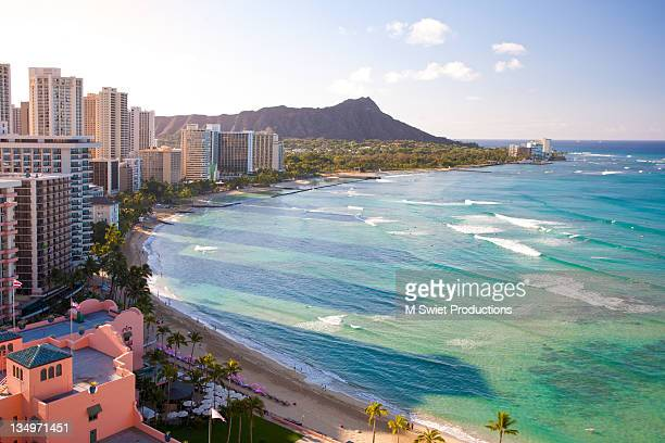 hawaii-waikiki-beach - waikiki stock pictures, royalty-free photos & images