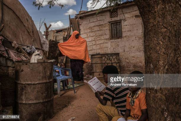 Haweeya Ahmed watches her son at her sisterinlaw's home on March 22 2017 in Cadow Yuurura Ms Ahmed moved with her husband and two children after...