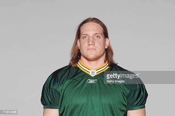 J Hawk of the Green Bay Packers poses for his 2006 NFL headshot at photo day in Green Bay Wisconsin