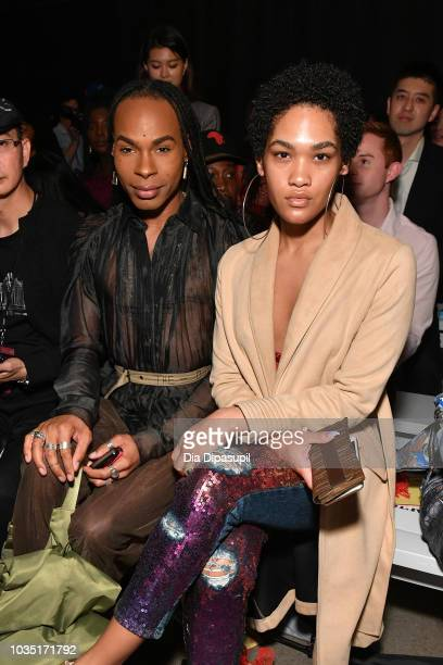 B Hawk Snipes and Ava Grey attend the Dakun X Liu Yong front row during New York Fashion Week The Shows at Gallery II at Spring Studios on September...