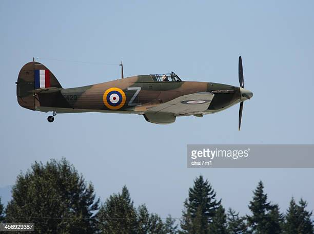 Hawker Hurricane XII Flying Over Trees