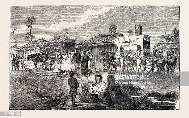 Hawkers At An Aboriginal Station Australia Georgetown South Australia Engraving 1876