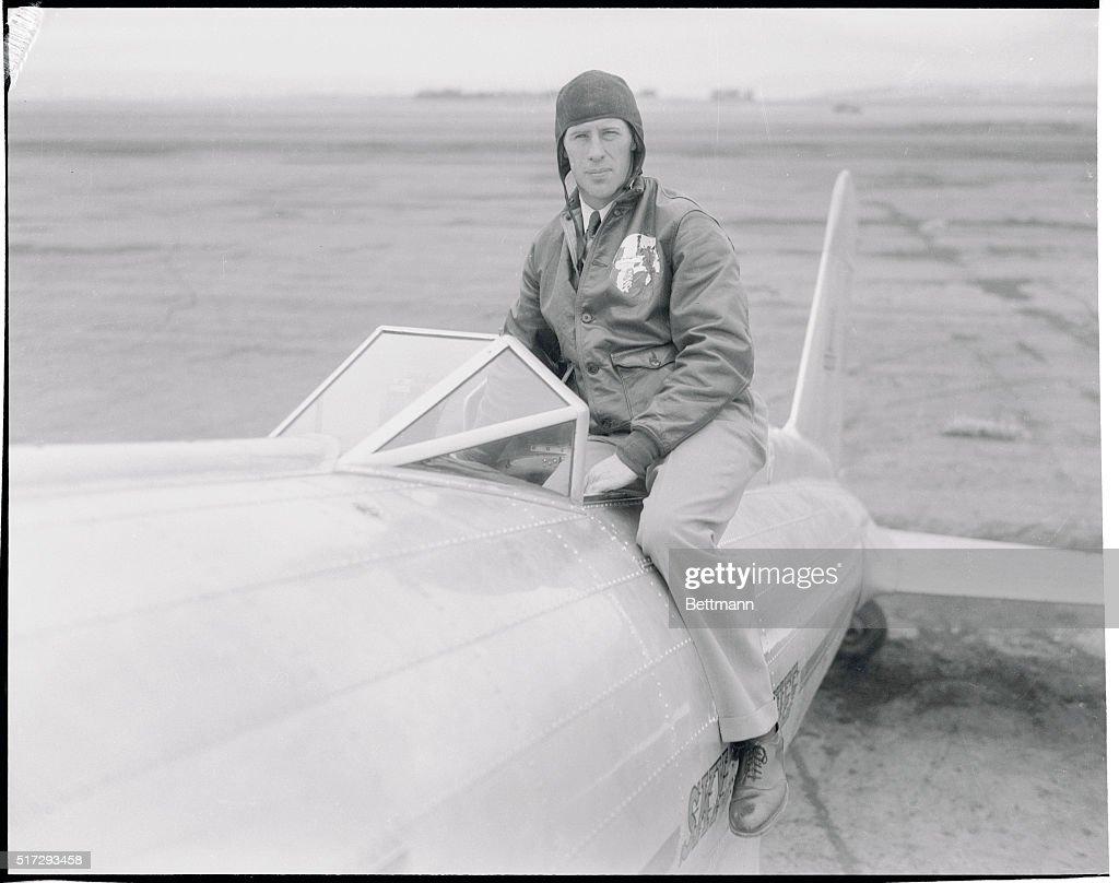 Frank Hawks Inside Low Wing Monoplane : News Photo