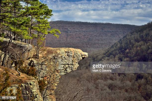 hawksbill crag (whitaker point) - arkansas stock pictures, royalty-free photos & images