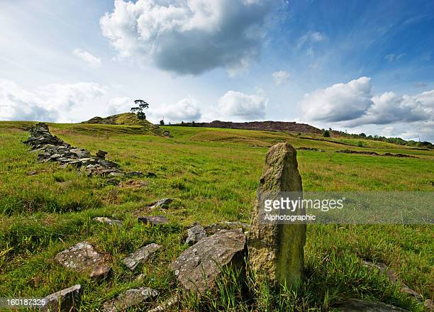 haworth near penistone crags - charlotte brontë stock photos and pictures