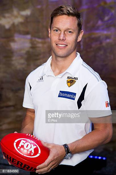 Hawthorn legend Sam Mitchell studio shoot during the Fox Sports 2016 launch on February 22 2016 in Sydney Australia
