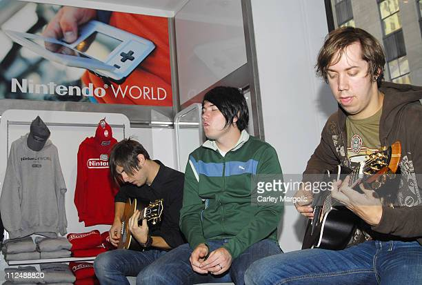 Hawthorne Heights during Nintendo Fusion Tour Acoustic Performance from Hawthorne Heights at Rockefeller Plaza in New York City New York United States