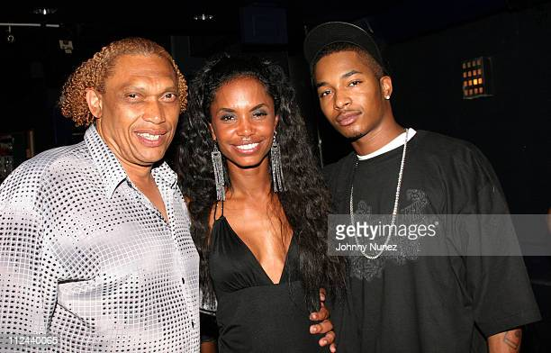 Hawthorne James Kim Porter and Chingy during Behind The Scenes Of The Movie 'The System Within' 22 July 2005 at Rasputin in Brooklyn New York United...