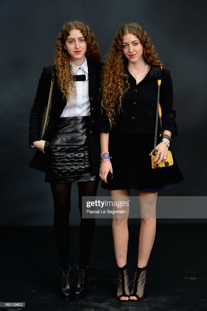 Haya Abu Khadra and Sama Abu Khadra attend the Chanel Fall/Winter 2013 Ready-to-Wear show as part of Paris Fashion Week at Grand Palais on March 5, 2013 in Paris, France.