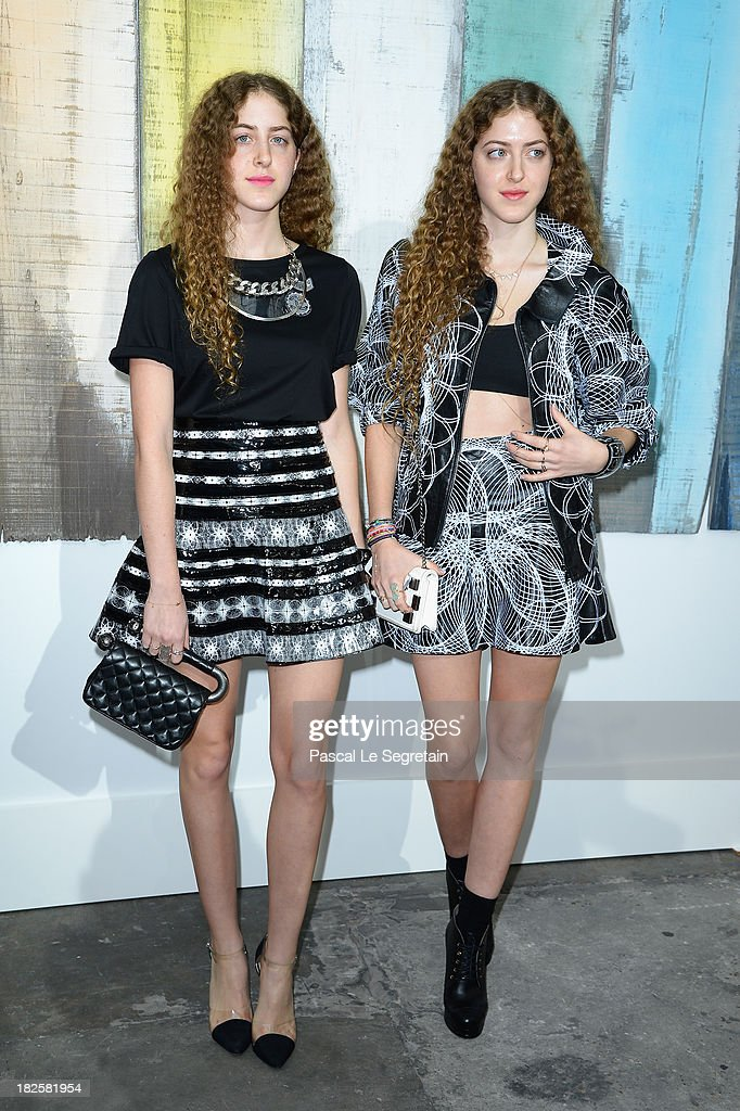 Haya Abu Khadra and Sama Abu Khadra attend the Chanel show as part of the Paris Fashion Week Womenswear Spring/Summer 2014 at Grand Palais on October 1, 2013 in Paris, France.