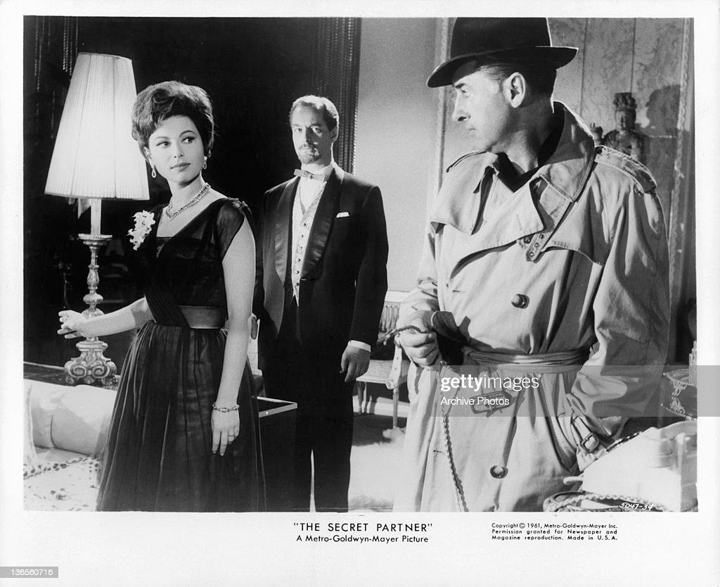 Haya Harareet And Stewart Granger In 'The Secret Partner' : News Photo