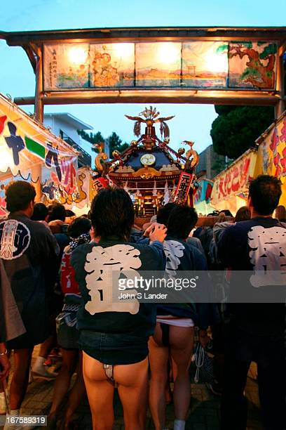 Hayama Matsuri or summer festival held each September when neighbors of the Morito Shrine carry its portable shrine through the streets Because it is...