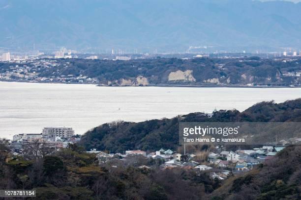 Hayama town and Kamakura city, and Sagami Bay, Northern Pacific Ocean in Kanagawa prefecture in Japan