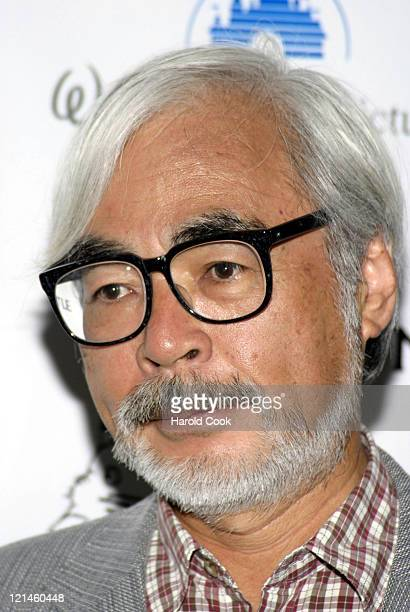 Hayao Miyazaki during 'Howl's Moving Castle' New York City Premiere at The Museum of Modern Art in New York City New York United States