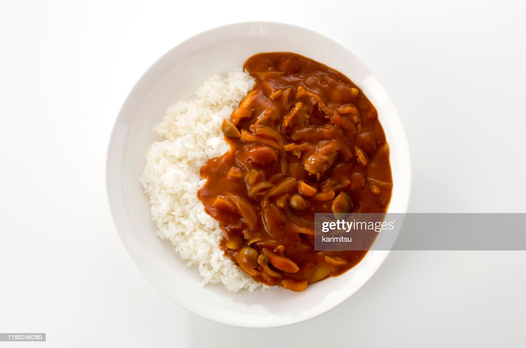 Hayashi rice. Rice with hashed beef : Stock Photo