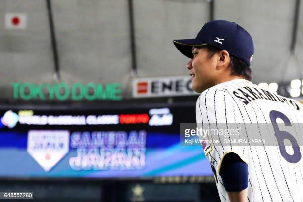Hayato Sakamoto of Japan in action during on March 6 2017 in Tokyo Japan