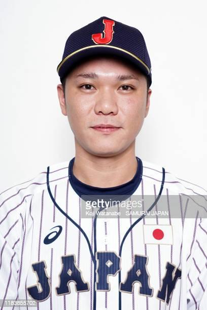 Hayato Sakamoto of Japan poses during the Samurai Japan portrait session on October 28 2019 in Naha Okinawa Japan