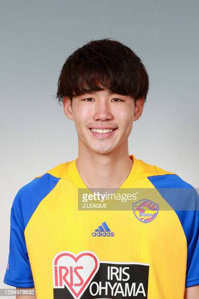 Hayato Teruyama poses for photographs during the Vegalta Sendai portrait session on January 9, 2020 in Japan.