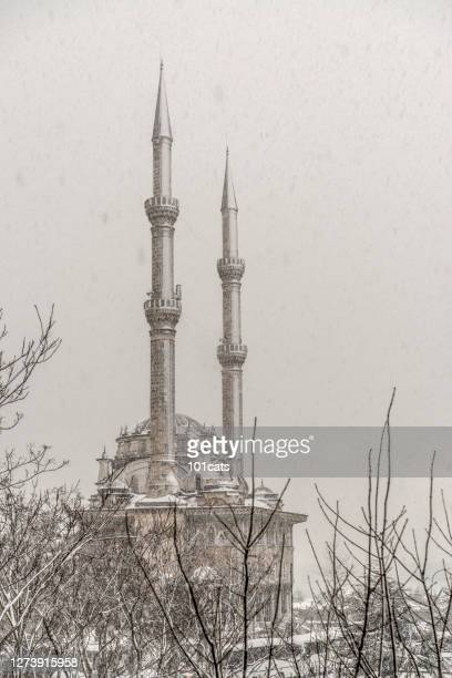 haydarpasa mosque in kadikoy - istanbul - minaret stock pictures, royalty-free photos & images