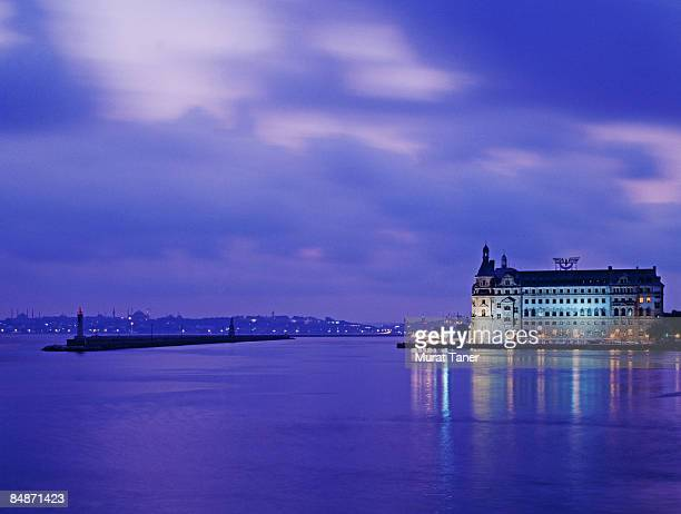 haydarpasa train station building - haydarpasa stock photos and pictures