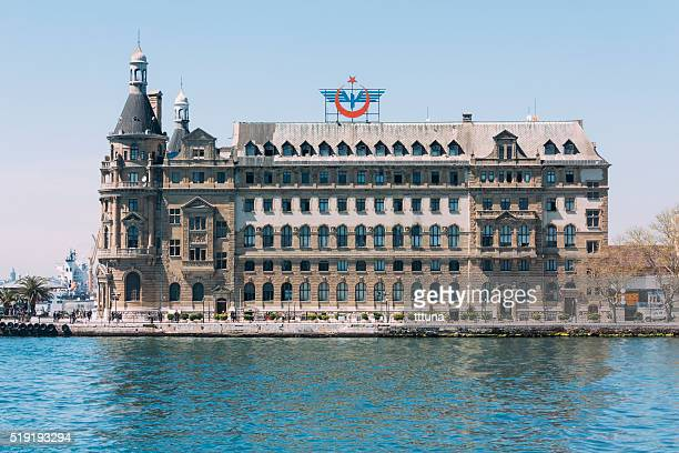 haydarpasa train station in istanbul - haydarpasa stock photos and pictures
