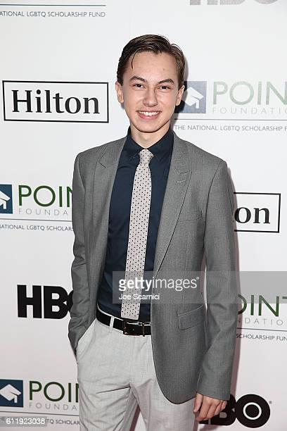 Hayden Byerly arrives at the 2016 Point Honors Los Angeles Gala at The Beverly Hilton Hotel on October 1 2016 in Beverly Hills California