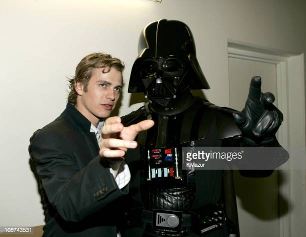 Hayden Christensen and Darth Vader during Nickelodeon's 18th Annual Kids Choice Awards Backstage and Audience at Pauley Pavilion in Los Angeles...