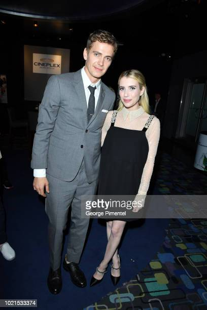 Hayden Christensen and Emma Roberts attend Little Italy World Premiere at Scotiabank Theatre on August 22 2018 in Toronto Canada