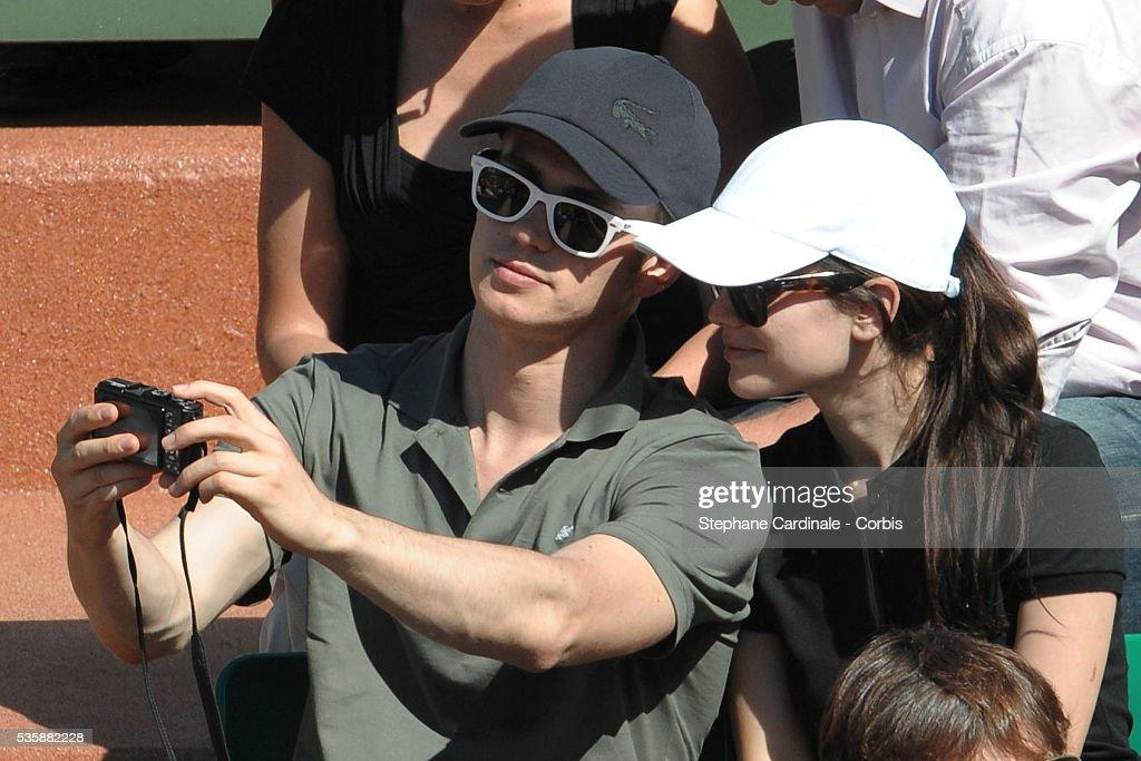 Hayden Christensen and his girlfriend Rachel Bilson attend the French Open at Roland Garros in Paris.