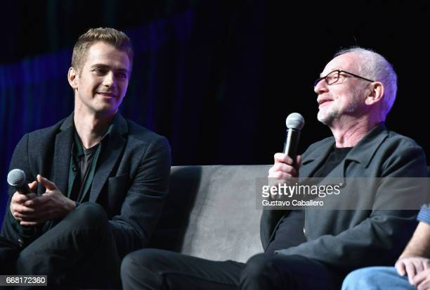Hayden Christensen and Ian McDiarmid attends the Star Wars Celebration day 01 on April 13, 2017 in Orlando, Florida.