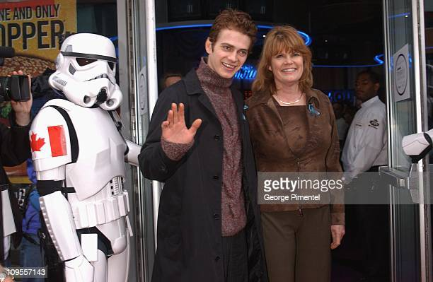 Hayden Christensen and mother during Star Wars Episode II Attack of the Clones Charity Premiere Toronto at Paramount Theatre in Toronto Ontario Canada