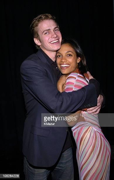 Hayden Christensen and Rosario Dawson during The 19th Annual IFP Independent Spirit Awards Offstage at Santa Monica Pier in Santa Monica California...