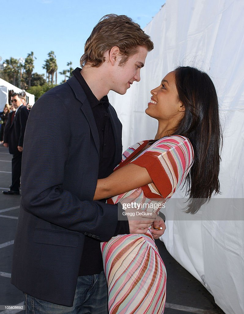 Hayden Christensen and Rosario Dawson during The 19th Annual IFP Independent Spirit Awards - Audience and Backstage at Santa Monica Pier in Santa Monica, California, United States.