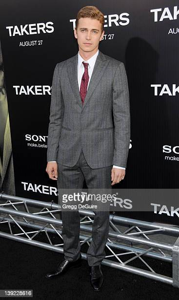Hayden Christensen arrives at the World Premiere of Takers at the ArcLight Cinerama Dome on August 4 2010 in Hollywood California