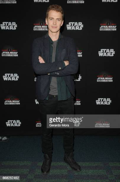 Hayden Christensen attends the 40 Years of Star Wars panel during the 2017 Star Wars Celebration at Orange County Convention Center on April 13 2017...