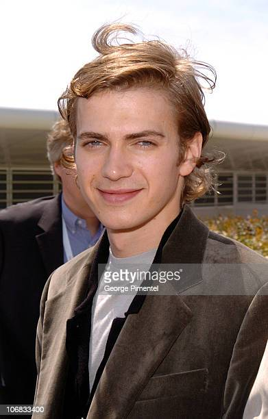 Hayden Christensen during 2005 Cannes Film Festival Star Wars Episode III Revenge of the Sith Photocall at Festival Du Palais in Cannes France