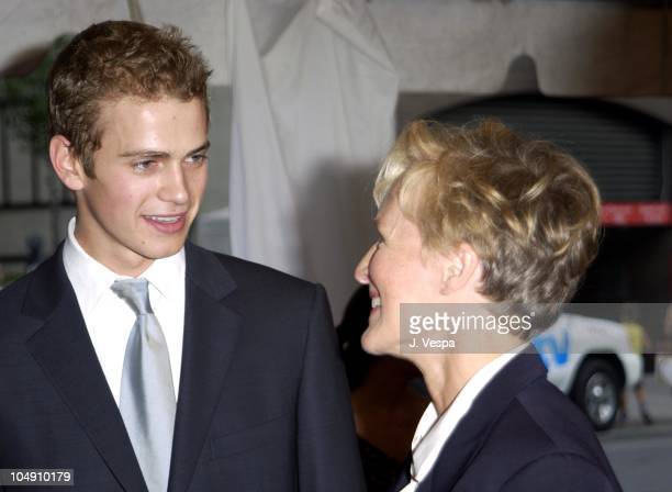 Hayden Christensen Glenn Close during Toronto 2001 Life as a House Premiere at Roy Thomson Hall in Toronto Canada