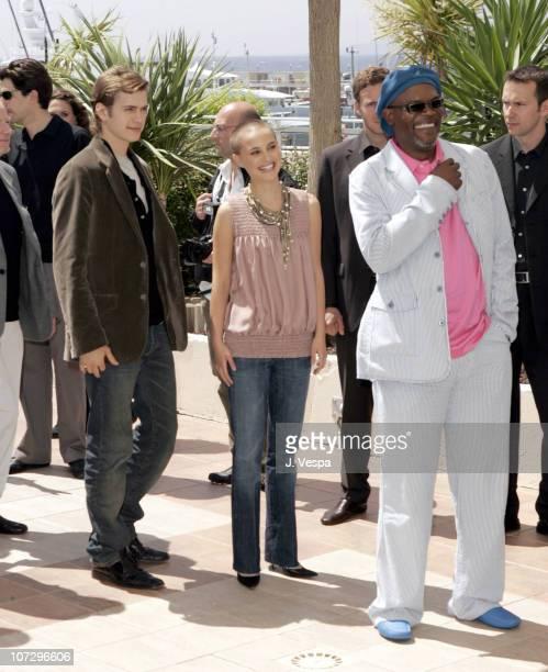 Hayden Christensen Natalie Portman and Samuel L Jackson