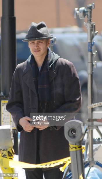 Hayden Christensen on Location for New York I Love You on the streets of Manhattan on April 17 2008 in New York City
