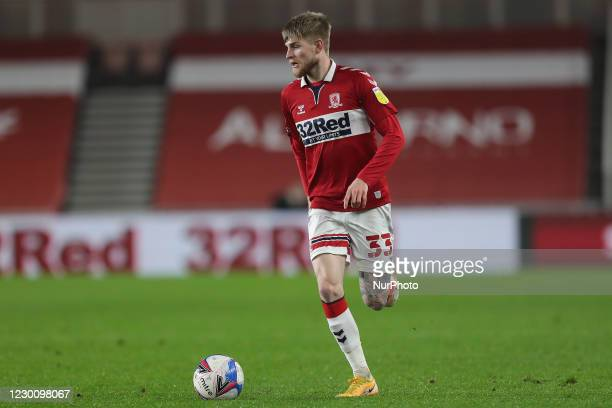 Hayden Coulson of Middlesbrough during the Sky Bet Championship match between Middlesbrough and Millwall at the Riverside Stadium, Middlesbrough on...