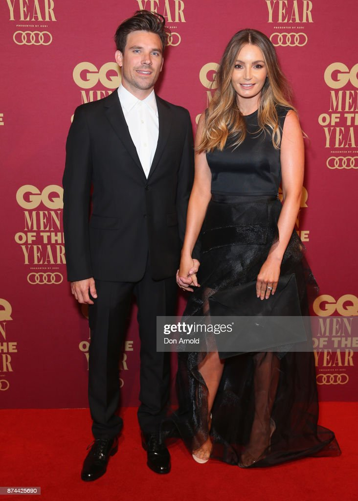 Hayden Cox and his wife Danielle attend the GQ Men Of The Year Awards at The Star on November 15, 2017 in Sydney, Australia.