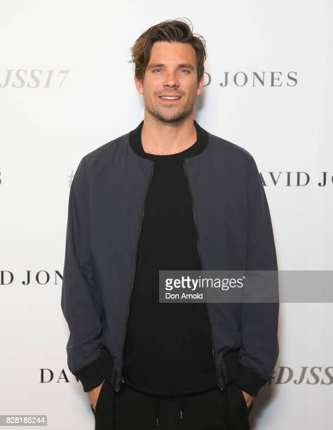 Hayden Cox arrives ahead of the David Jones Spring Summer 2017 Collections Launch at David Jones Elizabeth Street Store on August 9 2017 in Sydney...