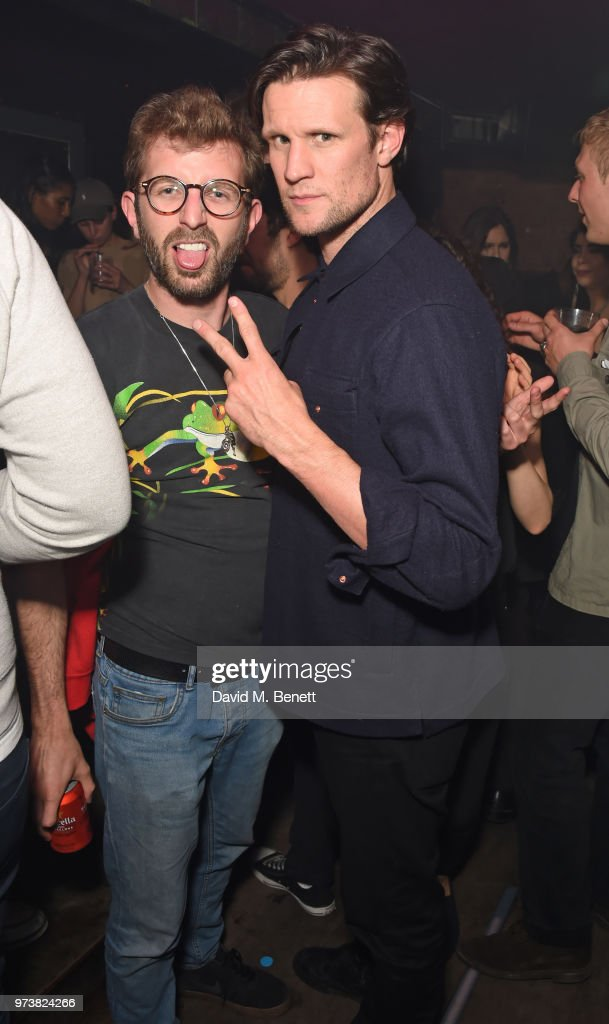 Hayden Kays (L) and Matt Smith attend the MJB x YOTA fashion capsule party supported by Ciroc who have designed MJB x YOTA Limited Edition Bottles at The Scotch of St James on June 13, 2018 in London, England.