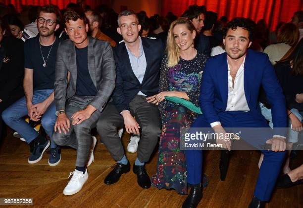 Hayden Kays Ed Speleers Russell Tovey Joanne Froggatt and Toby Sebastian all wearing Paul Smith attend the Paul Smith SS19 Menswear Show during Paris...
